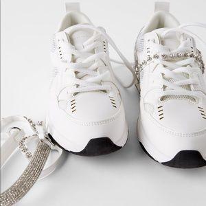 ZARA Bejeweled Sneakers
